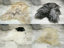 Sheepskin Rug Genuine Icelandic Scandinavian Nordic Style Accent rug Long hair