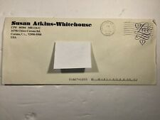 PRISON LETTER  SUSAN ATKINS - WHITEHOUSE CHARLES MANSON FAMILY HAND SIGNED RARE