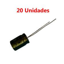 20x Condensador Electrolitico Polarizado 100uF 50V 12x9mm