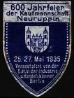 alte reklamemarke 1935 jub.600 jahre kaufmannschaft neuruppin, ihk berlin  /1106