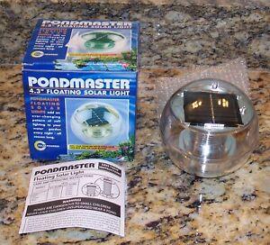 Pondmaster Solar-Powered Floating Light For Pond, Multi-Color Changing 02370 NIB