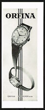 1950's Vintage 1950 Orfina Watch Co. Watches - Paper Print AD