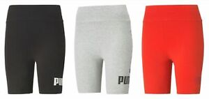 """Puma Ladies Ess 7"""""""" Logo Shorts Tights Fitness Pants Cycling Shorts Trackies"""