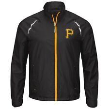 G-III Sports Pittsburgh Pirates Men's Interval Full Zip Jacket - Black