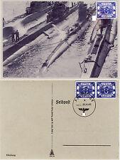 U-Boot Hela Mi# 13 gestempelt, Feldpostkarte Fälschung REPLICA