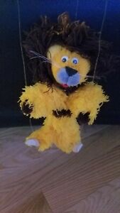 Gold & Brown Lion Marionettes String Plush Puppet 12 inch Furry Fuzzy.