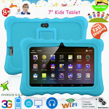 """7"""" Kids Tablet PC HD 8GB Android 4.4 Dual Camera 3G WIFI with Bundled Case Blue"""