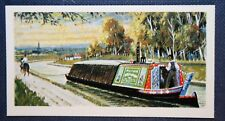 Loaded Horse Drawn Canal Barge     Vintage Card  # EXC