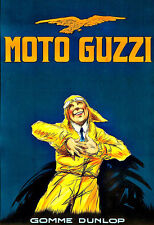 Moto Guzzi  Bike MotorBike MotorCycle  Deco   Poster Print