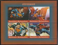 Madagascar 7683 - 2018   SUPERMAN  perf sheet of 4 unmounted mint