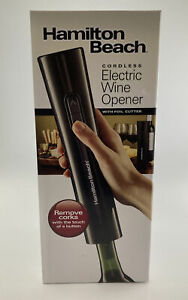 Hamilton Beach Cordless Electric Wine Bottle Opener