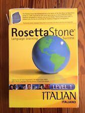 Rosetta Stone Italian Level 1 Language Course Learn Italian