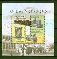 Curacao 2012 - Eisenbahnen Dampflok Lokomotive Kipplore Tram Bergbau - Block 6 ⁑