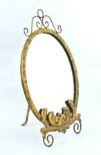 Gold Mirror / Vanity Mirror / Metal / Easel Back / 18 in Tall x 11 in Wide /
