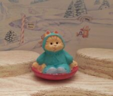 Hallmark Merry Miniature Cameron Cat On Sled Christmas 1995 Mint