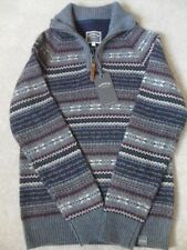 Men's Fair Isle, Nordic Regular Zip Neck Jumpers & Cardigans