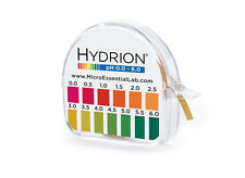 pH Test Paper Strip Roll 100 Tests  pH 0.0 - 6.0 Litmus Paper Short Acid Range