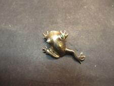 silver frog pin