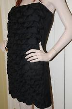 $2715 NEW CHANEL BLACK CAMELLIA CC Spagetti Straps CC LOGO Mini DRESS 38
