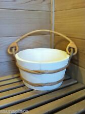 Free Shipping! 2 Gallon Wood Sauna Bucket w/Plastic Liner, sauna accessories