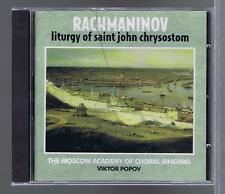 VIKTOR POPOV CD NEW RACHMANINOV LITURGY OF ST JEAN CHRYSOSTOM (RUSSIAN SEASON)