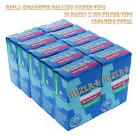 RIZLA SLIM CIGARETTE ROLLING FILTER TIPS 6mm 10packs X 150 TIPS 1500