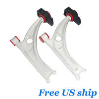 Front Lower Control Arms Pair Set With Bushing For VW CC Tiguan Passat Audi A3