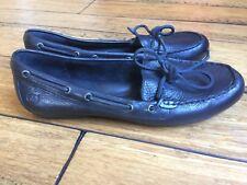 BORN Black Leather Slip On Loafer Oxford Moccasins Comfortable Size 9.5 / 41 EUC