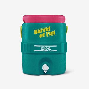 Igloo Special Edition Retro 2 Gallon Barrel of Fun Insulated Jug, Multicolor