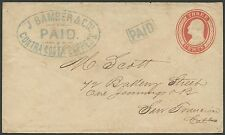 #U9 ON J. BAMBER & Co CONTRA COSTA EXPRESS PAID CDS #WC0858 SCARCE BR9343