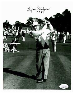 Byron Nelson Vintage Golfer 1988 Autographed Signed Black & White Photo JSA