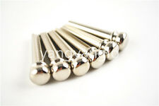 Set of 6pcs Acoustic Guitar Bridge Pins Chrome Brass Guitar Bridge Pins