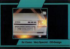 Opel Corsa CD Design Prospekt 1981 8/81 Autoprospekt brochure broschyr Katalog