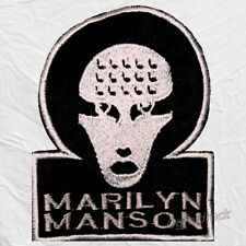 Marilyn Manson Omega Logo Embroidered Patch Mechanical Animals Spooky Kids