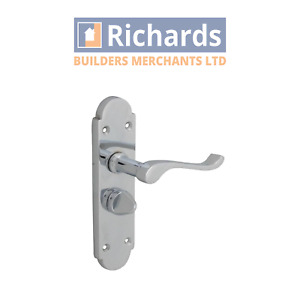 Forge Backplate Door Handle Privacy - Gable Chrome Finish | FGEHPRIGABCH