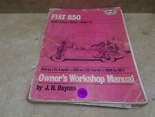 Haynes Fiat 850 Workshop Used Manual VP 70s VP-CM352
