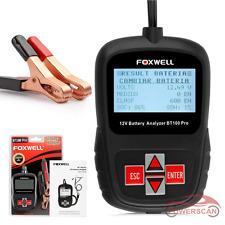 FOXWELL Battery Analyzer BT100 Pro 12V 100-1100 CCA Battery Load Tester Scan