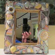 """VERY RARE AUTH MACKENZIE CHILDS PUTTY SHARD LARGE MIRROR PICTURE FRAME 11"""" X 9"""""""