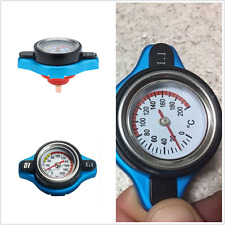 Blue Surface Car SUV Thermost Radiator Cap Cover 1.1 Bar Water Temp Gauge Meter
