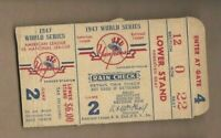1947 World Series ticket New York Yankees Brooklyn Dodgers G2 Jackie Robinson