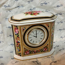 Wedgewood Bone China Decorative Mantle Desk Clock Wedgwood from England
