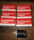 6 LOT -Pass & Seymour 5366-X Straight Blade Plug 20 Amp 2 P 3 W Grdg. NEW IN BOX