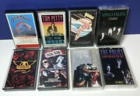 Lot of 8 ROCK CASSETTE TAPES 70's 80's Aerosmith Cheap Trick The Cars Tom Petty