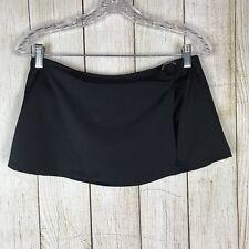 Women Speedo Black Swimsuit Skirt Bikini Bottom Size 10