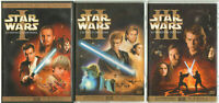 STAR WARS I, II e III Trilogia n. 6 DVD ITA (Minaccia fantasma, Attacco Cloni...