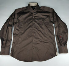 Absolute Rebellion Mens Brown Long Sleeve Button Down Shirt - Size XL