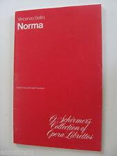 Opera Libretto Vincenzo Bellini Norma English / Italian 1969