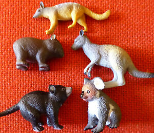 AUSTRALIAN ANIMAL MARSUPIALS COLLECTION SET (5) SMALL REPLICAS