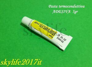 Pasta Termica ADESIVA 5g Dissipatore Termoconduttiva 5gr LED CPU VGA Transistor