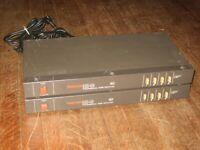 Pair of TASCAM DX-4D dbx 4 Channel Pro Noise Reduction Units w/Connectors, Feet